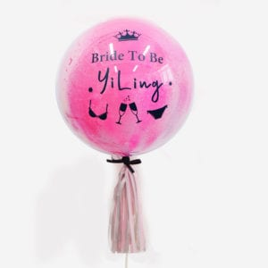 Customise Personalised helium bride to be hens party balloon with tassels 24 inch