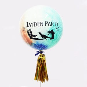 Customise Personalised helium confetti balloon with tassels 24 inch