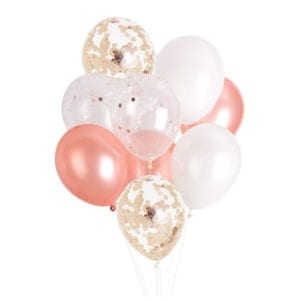 FUnlah balloon cluster bouquet Rose gold