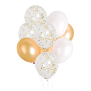 FUnlah balloon cluster bouquet gold confetti