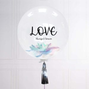 Funlah Customize Balloon with Pastel Feathers