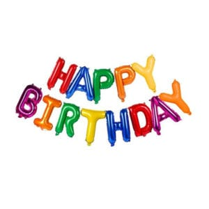 Funlah Happy Birthday Colourful 16 inch foil mylar hanging balloon decoration