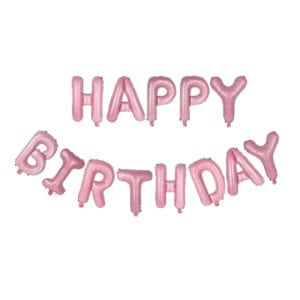 Funlah Happy Birthday Pink 16 inch foil mylar hanging balloon decoration