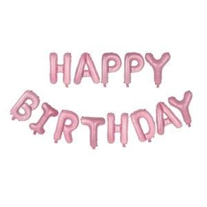Funlah Happy Birthday Pink 16 inch foil mylar hanging balloon decoration