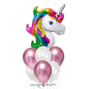 Funlah Rainbow Unicorn Balloon Bouquet 3
