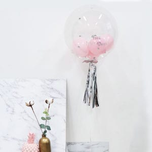 Funlah baby Shower Pastel Pink personalise Balloon 4