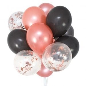 Funlah rose-gold-grey-party-balloon-bouquet