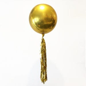 Funlah_gold_orbz_balloon_Streamer_16inch