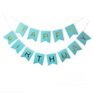 Happy Birthday Bunting blue