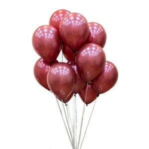 FUnlah balloon cluster bouquet bugundy