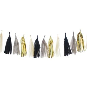 Birthday Party Tassels Black Gold