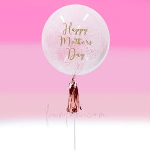 Funlah Hand Paint pastel pink personalized Bubble Balloon Mothers Day