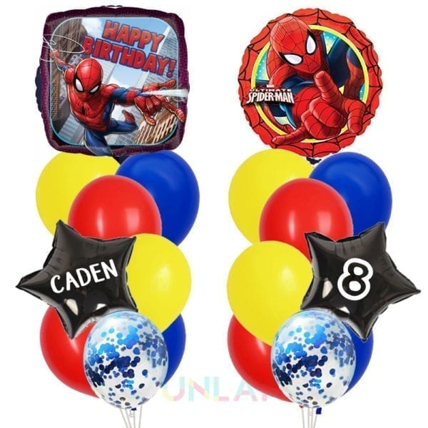 Balloon double cluster spiderman foil balloons