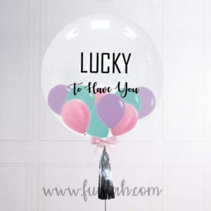 Funlah Customize Balloon in balloon unicorn so lucky to have you