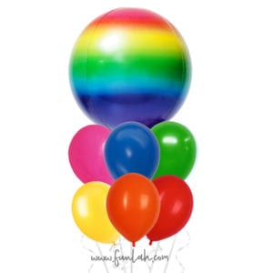 Funlah Rainbow Orb with balloon Bouquet