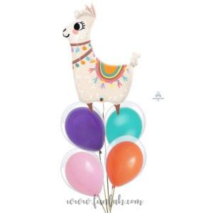 Llama Fiesta balloon bouquet