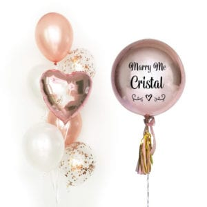 Classic Orbz with Side cluster balloon bouquet