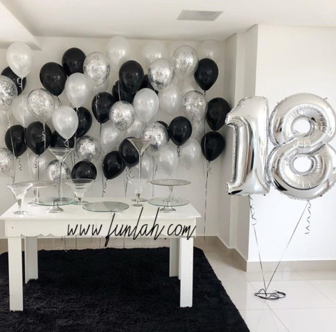 Funlah Cascading Balloon Wall with Digit foil Package