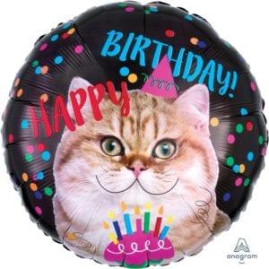 funlah.com -happy-birthday-cat Balloons