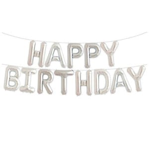 16 inch happy birthday letter foil balloon