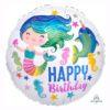 Colourful ocean fun HBD foil balloon