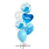 Funlah 6 layer helium balloon baby boy whale hearts