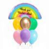 Matte Rainbow Balloon Bouquet