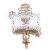 Victorian Hearts Cake Foil Balloon