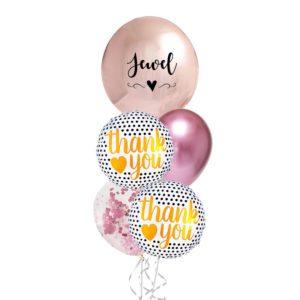 Thank you polka dot foil balloon bouquet