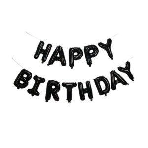 16 inch happy birthday black foil balloon