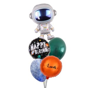 Astronaut Birthday balloon bouquet