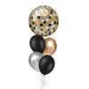 Black Gold Disco Ball balloon bouquet