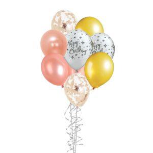Dainty happy birthday balloon bouquet