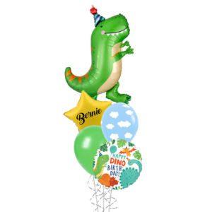 Dinomite Dinosaur Helium Foil Balloon Bouquet