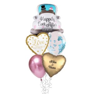 Happily Ever After Helium Foil Balloon Bouquet