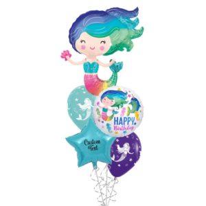 Mermaid Gala Helium Balloon Bouquet