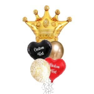 Queen Of Hearts Helium Balloon Bouquet