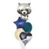 Racoon Always and forever balloon bouquet