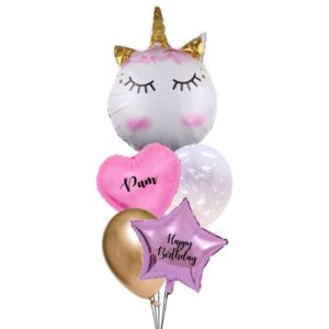 Sakura Wink Unicorn Balloon Bouquet
