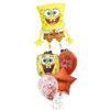 Spongebob birthday foil balloon bouquet