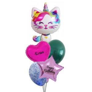 Unicorn Cat Balloon Bouquet