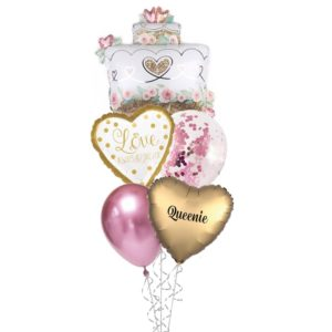 Victorian Love and always forever Helium balloon bouquet