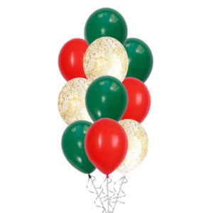 Christmas Classic Confetti Balloon Bouquet