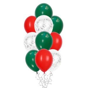 Christmas Classic Silver Confetti Balloon Bouquet