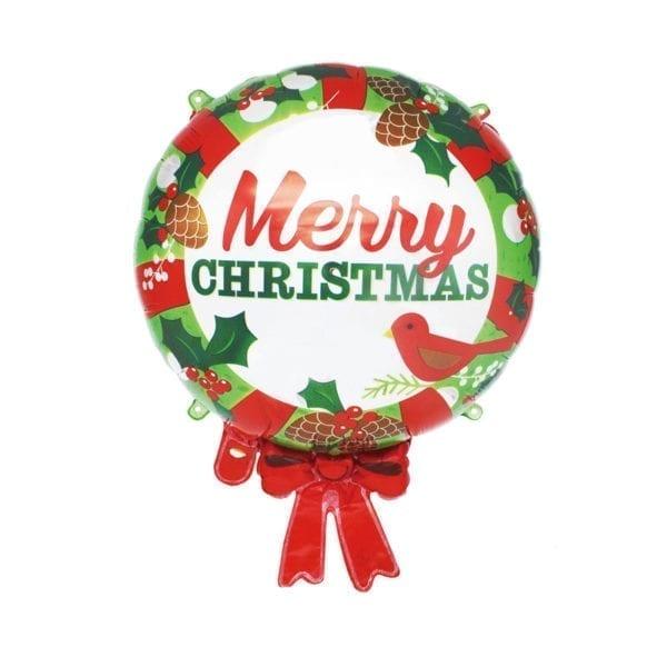 Christmas Wreath Foil Balloon