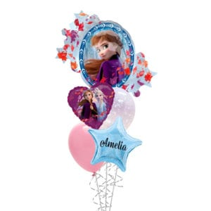 Frozen 2 Hearts Balloon Bouquet