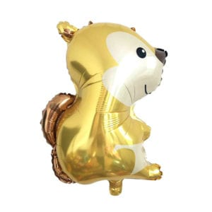 Gold Squirrel Foil Balloon