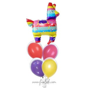 Llama Pinata Balloon Bouquet