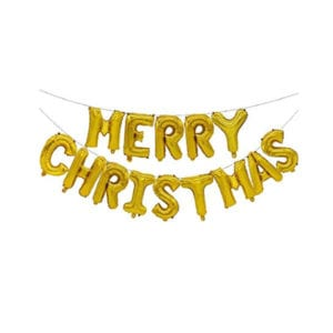 Merry Christmas Gold Foil Letter Balloon