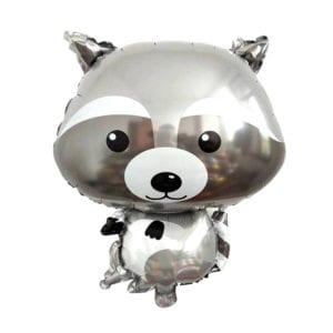 Silver Racoon Foil Balloon